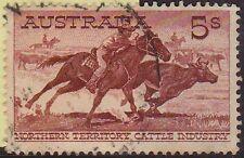 (H6-92) 1961 AU 5/- NT cattle industry Aboriginal stock men