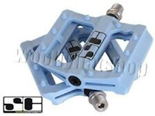 "Savage Components 'Slim Jim' 9/16"" BMX Bicycle Bike Cycling Stunt Pedals in Blue"