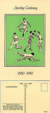 1980 SPORTING CENTENARIES LIMITED EDITION MINT POSTCARD BY VELDALE
