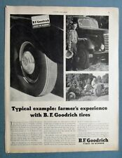 Original 1948 B F Goodrich Tire  Ad Photo Endorsement H. B Johnson Escondido CA