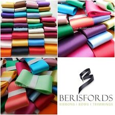 1/2 KILO LOT OF BERISFORD WIDE SATIN RIBBON, ASSORTED COLOURS, 25 - 70MM WIDTHS