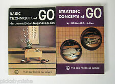 2 Book Set Ishi Press Strategic Concepts and Basic Techniques of Go Games Japan
