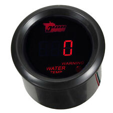"2"" 52mm Black Car Motor Digital Red LED Water Temp Temperature LED Gauge Meter"