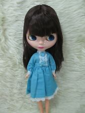 Big Head Blythe Clone 4 Color Changing Eyes Basaak Doll - brown hair