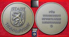 Fußball Sport Medaille Medal SPORTLEREHRUNG STADT INGOLSTADT im Original-Etui