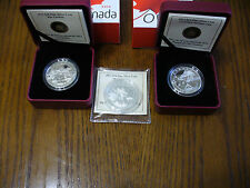LOT OF 3 COINS 2013  10  $  FINE SILVER COIN -O CANADA SERIES   3 COINS CERTIFS