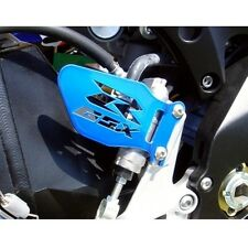 Suzuki GSXR CANDY BLUE Logo Heel Guards / Plates GSX-R 600 750 1000