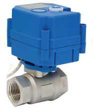 """3/4"""" Electric Actuated Ball Valve 110 VAC Stainless Steel-New"""