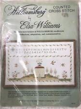 Elsa Williams Cross Stitch Williamsburg Sampler Kit 29101 USA New NIP