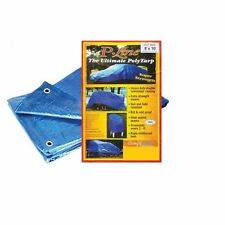 Blue Tarp Reinforced All Weather Resistant Strong Poly Tarpaulin Tarps 8x10