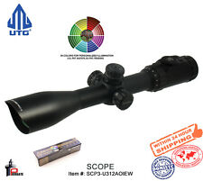 UTG 3-12X44 30mm Scope, AO, 36-color Mil-dot, with Rings SCP3-U312AOIEW