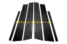 06~11 BMW E90 3-Series Carbon Fiber Door Trim Pillar Panel 6pcs 328 335 M3 Sedan
