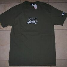 NEW NWT Quiksilver army olive green logo short sleeve t shirt men sz small surf