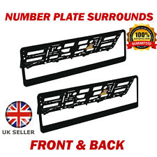 2x Number Plate Surrounds ABS Holder Black for Toyota Yaris