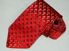 Men's Ermenegildo Zegna Red 100%Silk Neck Tie Made in Italy