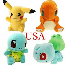 "4 Pcs 6"" Pokemon Pikachu Bulbasaur Squirtle Charmander Plush Toy Stuffed Doll"