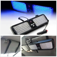 86LED BLUE SuperBright Emergency Warning Strobe Flashing Car Sun Visor SunShield