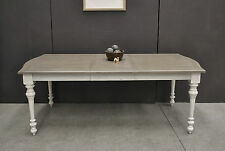 French Provincial Country Chic Hamptons Style Turned Leg Extension Dining Table