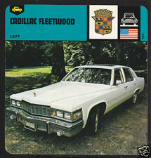 1977 CADILLAC FLEETWOOD Car Picture '78 AUTO RALLY CARD