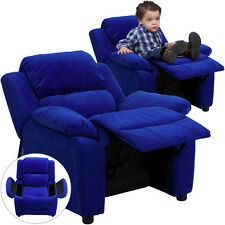 Flash Blue Microfiber Kids Recliner with Storage Arms BT-7985-KID-MIC-BLUE-GG