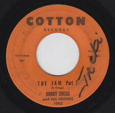 Bobby Gregg & His Friends 45rpm Cotton 1003 The Jam Parts 1 & 2 Blues Soul