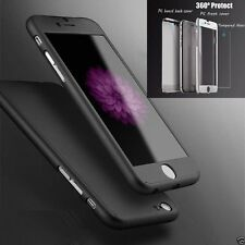 I3C Hybrid Tempered Glass +Acrylic Hard Case Cover For iPhone 6 BLACK DC