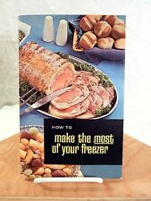 """Vintage How to Freezer Guide """"Welcome to Freezer Living"""" Ad Interest Ephemera"""