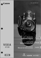 Canon VIXIA HF S30 Camcorder User Instruction Guide  Manual