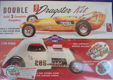 DOUBLE DRAGSTER KIT STREAMLINER RAIL FIAT ALTERED AMT 646 WRAPPED KIT 1:25