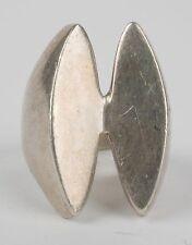 Vintage Large designer signed Sterling silver modernist ring, unique & unusual