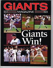 1989 San Francisco Giants National League Championship Series vs Cubs Program