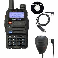 BAOFENG UV-5R2 Dual Band UV-5R 2 Two Way FM Radio + USB Cable & Speaker Mic US