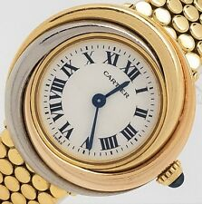 "CARTIER ""TRINITY"" LADIES WATCH 18K WHITE, YELLOW & ROSE GOLD ON A BRACELET !!!"