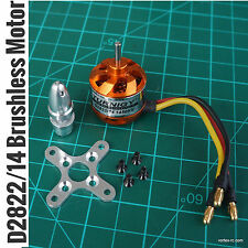 D2822/14 Brushless Outrunner Motor1450kv. Includes Hardware pack.