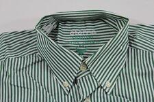 T0225 Eterna City Leger Businesshemd Kurzarm 39 Grün Weiß gestreift Neuwertig