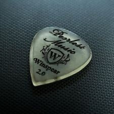 WINSPEAR PICKS - Amber Std Shiv 2mm Engraved Peerless Music Boutique Guitar Pick