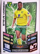 Match Attax 2012/13 Premier League - #180 Steve Morison - Norwich City
