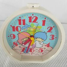 Little Twin Stars Sanrio Alarm Clock Quartz Citizens Japan 1976 Working