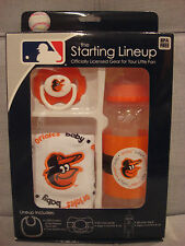 BABY FANATIC MLB KICKOFF COLLECTION BIB, PACIFIER, and BOTTLE BALTIMORE ORIOLES
