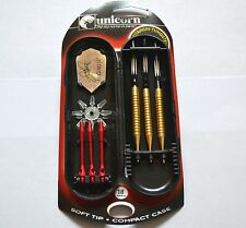 UNICORN JOHN PART SOFT TIP 90%  GOLDEN TUNGSTEN DARTS SET 18g