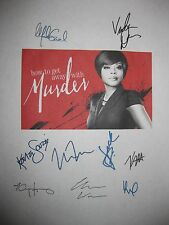 How to get away with Murder Signed Script X9 Viola Davis Enoch King Weber reprnt