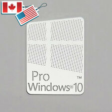 Windows 10 Pro Logo Metal Sticker for Computer/Laptop PC(17x22mm)