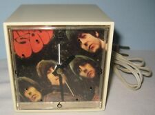 Old Beatles Rubber Soul Alarm Clock - American Greetings Mini Cube Rock n Roll