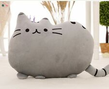 Kawaii Pusheen Kitty Cat Toy Plush Cushion Pillow Grey 40 x 30cm Large Anime
