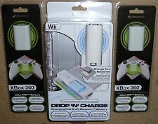 NINTENDO WII REMOTE & XBOX 360 WIRELESS INDUCTION BATTERY CHARGER KIT BRAND NEW!