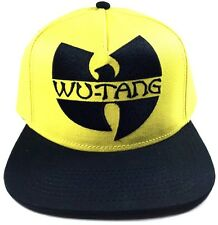 WU-TANG CLAN SNAPBACK HAT CAP YELLOW BLACK C.R.E.A.M. FLAT BILL ADJUSTABLE LOGO
