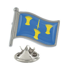 Cheshire Wavy Flag Pin Badge UK English County Chester Brand New & Exclusive