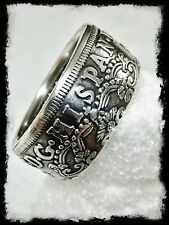 """1775 Spanish Pillar Dollar"" 1oz .999 silver Coin Ring. sizes 10 - 16"