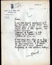 """SOISSONS (02) HOTEL DE LA CROIX D'OR """"A. LECAS Propriétaire"""" en 1930"""