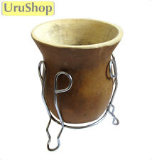M96 BRAZILIAN CUIA: GOURD WITH STAND, TRADITIONAL CUP TO DRINK YERBA MATE TEA